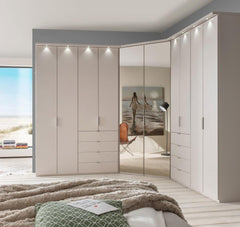 WiemannBoston Combi Wardrobe 6 Drawers W394cm with Bi Fold DoorsBlue Ocean Interiors