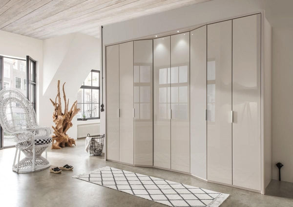 WiemannBoston Wardrobe W244cm with Bi Fold Doors and Angled ElementsBlue Ocean Interiors