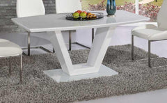 Vanity White Glass Dining Table Only  glass dining table- Blue Ocean Interiors