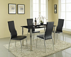 Rome Black Glass Dining Table 4 Seater Set  glass dining tables and chairs- Blue Ocean Interiors