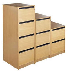 Maestro Storage Filing Cabinets in Beech Or Oak Finish With Various Drawers  filing cabinets- Blue Ocean Interiors
