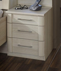 Luxor 4 Bedside Cabinet 3 Drawers Narrow  bedside table- Blue Ocean Interiors