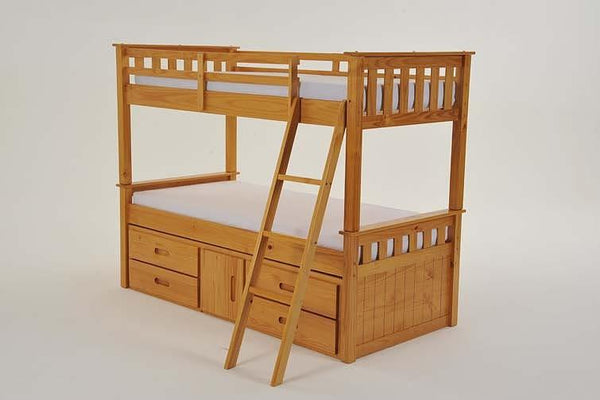 Heartlands FurnitureCaptain 3'0'' Single Bunk with Storage in Pine FinishBlue Ocean Interiors