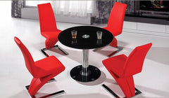 Heartlands FurnitureAlonza Dining Table in Black Glass With 4 Z ChairsBlue Ocean Interiors