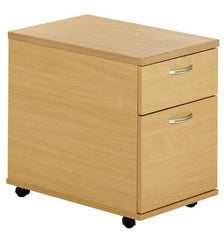 Momento 2 Drawer Mobile Pedestal In Woodland Beech  filing cabinets- Blue Ocean Interiors
