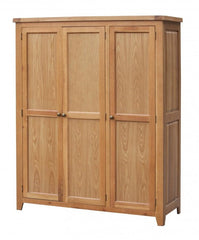 Heartlands FurnitureAcorn Solid Oak 3 Door WardrobeBlue Ocean Interiors