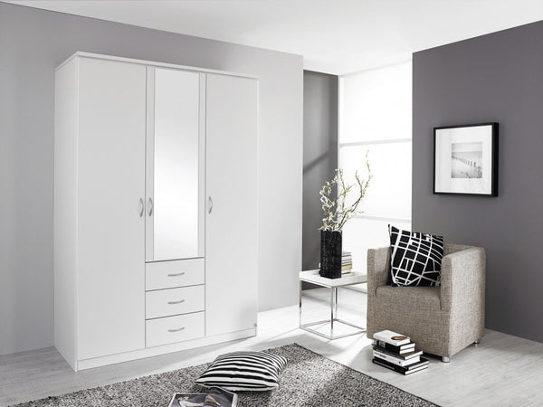 RauchBlitz Combi 2 Door Hinged Door Wardrobe With 3 DrawersBlue Ocean Interiors