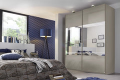 Miramar Typ2 Sliding Wardrobe with Colour Glass and Mirror Front  sliding door wardrobe- Blue Ocean Interiors