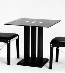 Troy Small Dining Table Only in Black Glass  glass dining table- Blue Ocean Interiors