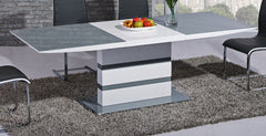 GiataliaArctic Extending Grey Glass Dining Table SmallBlue Ocean Interiors