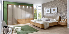 Serena Combi Wardrobe with Bi-Fold Panorama Doors W 350cm  wardrobe- Blue Ocean Interiors