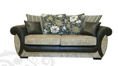 Park Lane Scatter Back 3 Seater Sofa in Fabric and Leather  fabric sofa- Blue Ocean Interiors