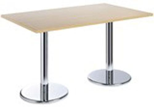 Dams InternationalBistro 1300mm Rectangular Table With Double Trumpet BaseBlue Ocean Interiors