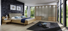 Serena Wardrobe with Bi-Fold Panorama Doors in Sahara Glass  wardrobe- Blue Ocean Interiors