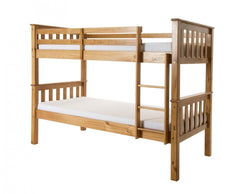 Porto 3'0'' Single Bunk Bed in Pine or White Finish  bunk bed- Blue Ocean Interiors