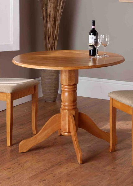 Vida LivingBrecon Round Dining Table Only in Honey FinishBlue Ocean Interiors