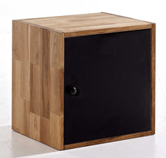 Maximo Cubes In Oak Single Cube with Door  shelving unit- Blue Ocean Interiors