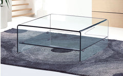 Heartlands FurnitureAngola Coffee Table Square in Clear GlassBlue Ocean Interiors