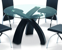 Marston Glass Dining Table  glass dining table- Blue Ocean Interiors