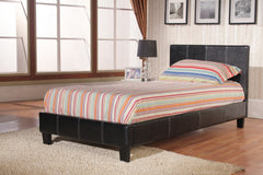 "Haven Single 3'0"" Bedframe in Black or Brown Faux Leather  leather bed- Blue Ocean Interiors"
