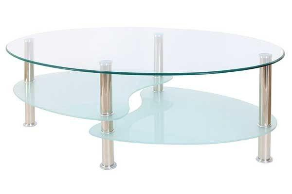 TGC FurnitureCara Glass Coffee Table in Clear Glass and Chrome FinishBlue Ocean Interiors