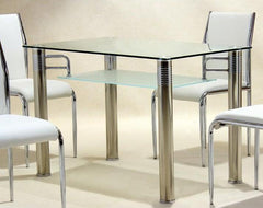 Vercelli Dining Table in Clear Glass  glass dining table- Blue Ocean Interiors