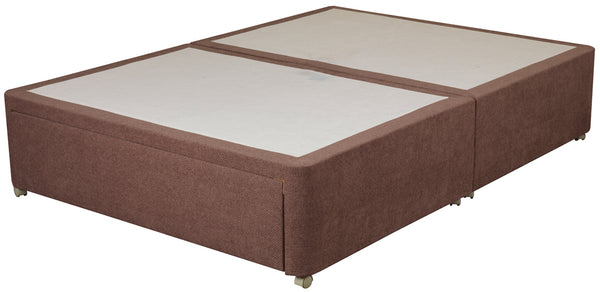 Amber 150cm Divan Base in Pablo Plain, Chenille or Executive Fabric Finish