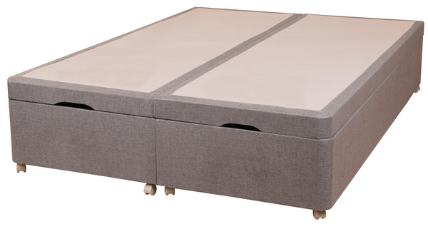 Sweet DreamsAmber 135cm Divan Base in Pablo Plain, Chenille or Executive Fabric FinishBlue Ocean Interiors