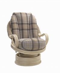 DesserDeluxe Swivel Rocking Chair in Natural Wash FinishBlue Ocean Interiors