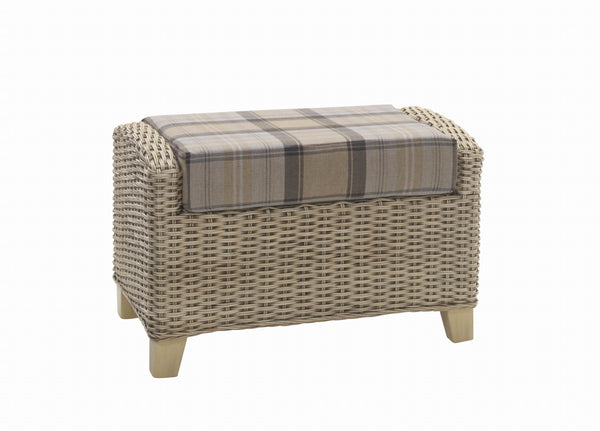 DesserArlington Rattan Footstool with StorageBlue Ocean Interiors