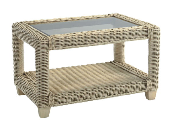 DesserBurford Rattan Coffee Table with Glass TopBlue Ocean Interiors