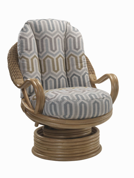 Camden Rattan Swivel Chair