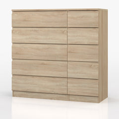 Vienna 5 Drawer Double Chest  chest of drawers- Blue Ocean Interiors
