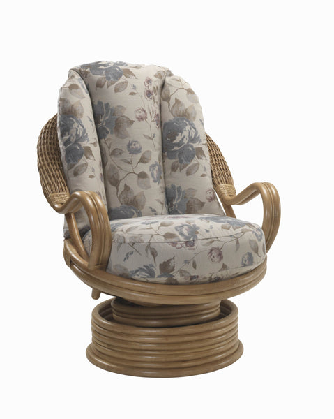 Deluxe Swivel Rocking Chair in Natural Wash Finish
