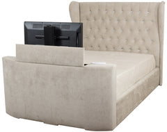 Lola Fabric TV Bed in Faux Suede or Sumatra Plain Finish
