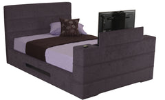 Mazarine Fabric TV Bed in Faux Suede Leatherlook or Sumatra Plain Finish