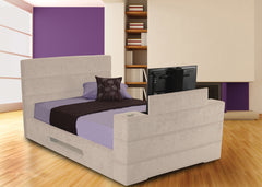 Mazarine Fabric TV Bed in Pablo, Chenille or Executive Finish