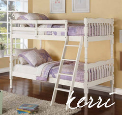 Kerri Bunk Bed - White