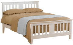 Kestral Wooden Bed in White Finish