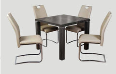 AnnaghmoreEncore Charcoal Dining Table with 4 Claren Khaki ChairsBlue Ocean Interiors