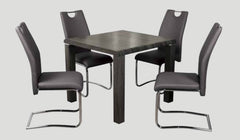 AnnaghmoreEncore Charcoal Dining Table with 4 Claren Grey ChairsBlue Ocean Interiors