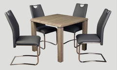 AnnaghmoreEncore Havana Dining Table with 4 Claren Grey ChairsBlue Ocean Interiors