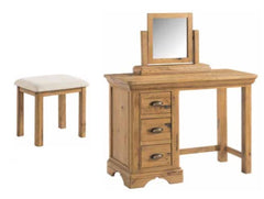 Lyon Dressing Table with Stool and Mirror