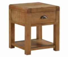 Oakridge Dark End Table with Drawer