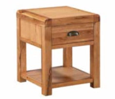 Oakridge Waxed End Table with Drawer