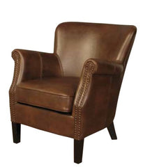 Harlow Leather Air Armchair - Tan