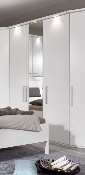 WiemannAlmeria Wardrobe with Bi-fold Doors and Mirror DoorsBlue Ocean Interiors