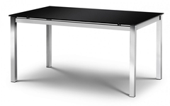 Tempo Black Glass Dining Table Only