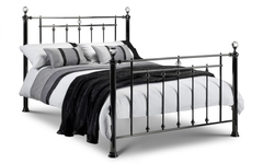 Marquis 135cm Metal Bed in Black Nickel Finish