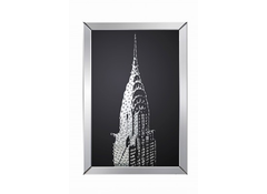 Valentina Mirrored Chrysler Building Print  picture- Blue Ocean Interiors
